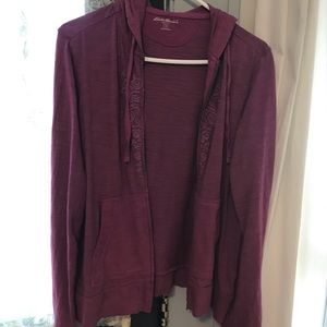 Purple hoodie with embroidery EUC